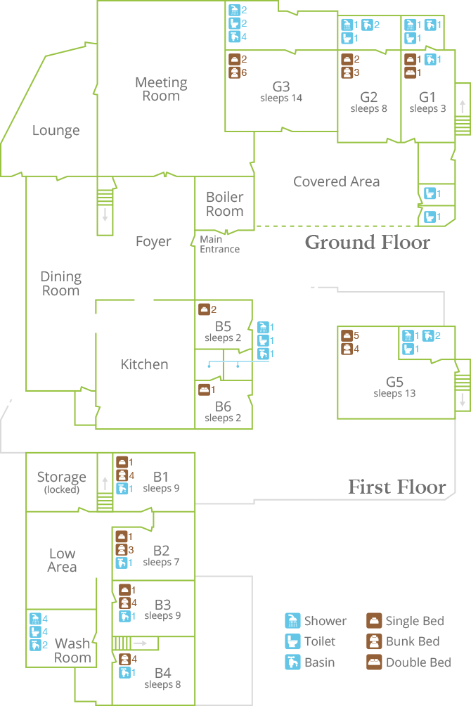 Bedroom Layout - The Granary and Tithe Barn